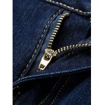 Button Embellished Zip Fly Jeans in Taper Fit deal