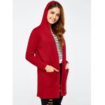Open Front Pocket Hooded Cardigan deal