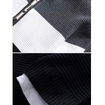 Stand Collar Color Block Rib Splicing Knit Blends Jacket for sale