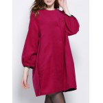 Wool Blend Cocoon Coat With Pocket