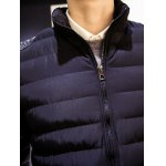 cheap Stand Collar Insert Zip Up Padded Jacket