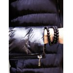 Stand Collar Insert Zip Up Padded Jacket deal