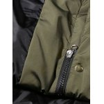 best Velour Down Coat With Faux Fur Hooded