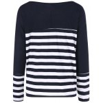 cheap Striped Two Tone Tee