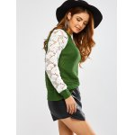 Floral Lace Insert Chunky Sweater deal