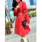 Pocket Fit and  Flare Coat With Belt deal