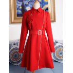 Pocket Fit and  Flare Coat With Belt for sale