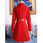 best Pocket Fit and  Flare Coat With Belt