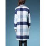 Checked Long Wool  Coat deal