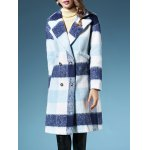 Checked Long Wool  Coat