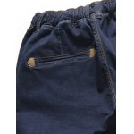 Drawstring Narrow Feet Jeans for sale