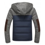 cheap Color Block Spliced Design Zip Up Flocking Quilted Jacket