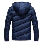 cheap Oblique Spliced Design Zip Up Quilted Jacket