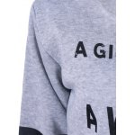 Graphic Skew Collar Sweatshirt deal