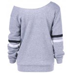 cheap Graphic Skew Collar Sweatshirt