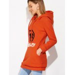 Drawstring Flocking Letter Pattern Hoodie deal