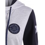Button Up Patched Hooded Jacket deal