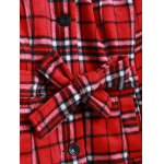 Plaid Pattern Wool Coat for sale
