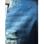 Straight Leg Dyed Distressed Jeans photo
