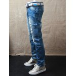 Straight Leg Dyed Distressed Jeans deal