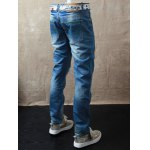 Straight Leg Dyed Distressed Jeans for sale