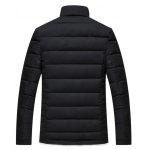 cheap Slim Fit Wool Stand Collar Quilted Jacket
