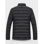 cheap Wool Stand Collar Button Up Quilted Jacket