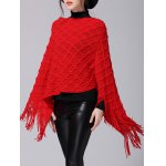 Fringe Asymmetric Sweater Poncho deal