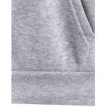 best Letter Print Drawstring Hoodie with Pockets