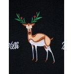 Christmas Reindeer Embroidered Sweater photo