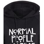 Pullover Funny Print Drawstring Hoodie deal