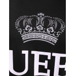 Pullover Queen Print Drawstring Hoodie for sale