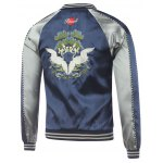 cheap Bird Embroidery Raglan Sleeve Souvenir Jacket
