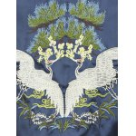 Bird Embroidery Raglan Sleeve Souvenir Jacket for sale