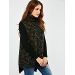 cheap Turtle Neck  Space Dyed Chunky Sweater Vest