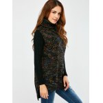 Turtle Neck  Space Dyed Chunky Sweater Vest deal