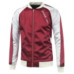 Letter Wing Embroidery Raglan Sleeve Souvenir Jacket