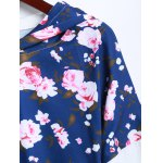 Flowers Print Splicing Hoodie deal