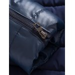 best Zip Up PU Leather Panel Padded Jacket