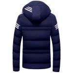 cheap Zip Up Striped Hooded Padded Jacket