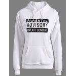 Letters Pattern Sporty Drawstring Hoodie