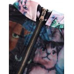 Cat Print Pullover Sweatshirt for sale