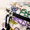 Colour Block Bicycle Pattern Canvas Backpack photo