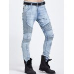 cheap Distressed Ripped Light Jeans