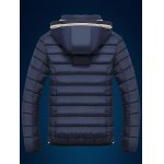 cheap Color Block Edging Design Zip Up Quilted Jacket