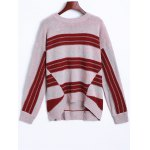 Drop Shoulder Striped Sweater photo