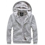 cheap Applique Zip Up Flocking Hoodie and Pants Twinset