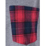 best Plus Size Plaid Flounced T-Shirt