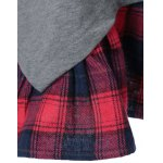 Plus Size Plaid Flounced T-Shirt for sale