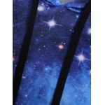 Pullover Galaxy Print Drawstring Hoodie for sale